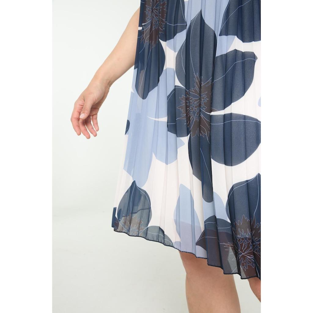 Paprika Druckkleid »Rundhals geblümt«, bequem zu tragen