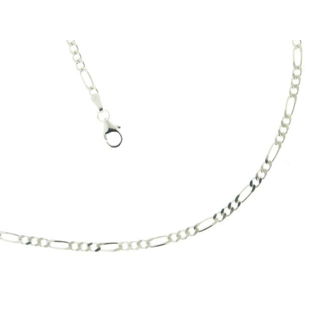 La Piora Silberkette »Figaro«, massiv, 2-fach diamantiert
