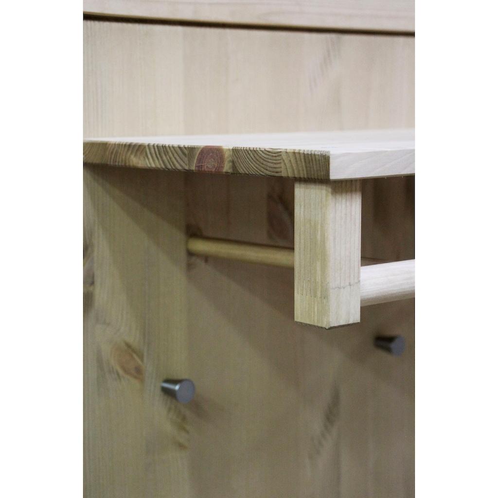 Home affaire Garderobenpaneel »Molly«, aus Kiefer massiv, Breite 86 cm