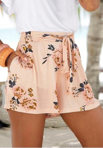 s.Oliver Beachwear Strandshorts, mit Blumenprint kaufen
