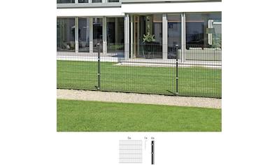 GAH ALBERTS Set: Doppelstabmattenzaun 80 cm hoch, 5 Matten für 10 m, 6 Pfosten kaufen