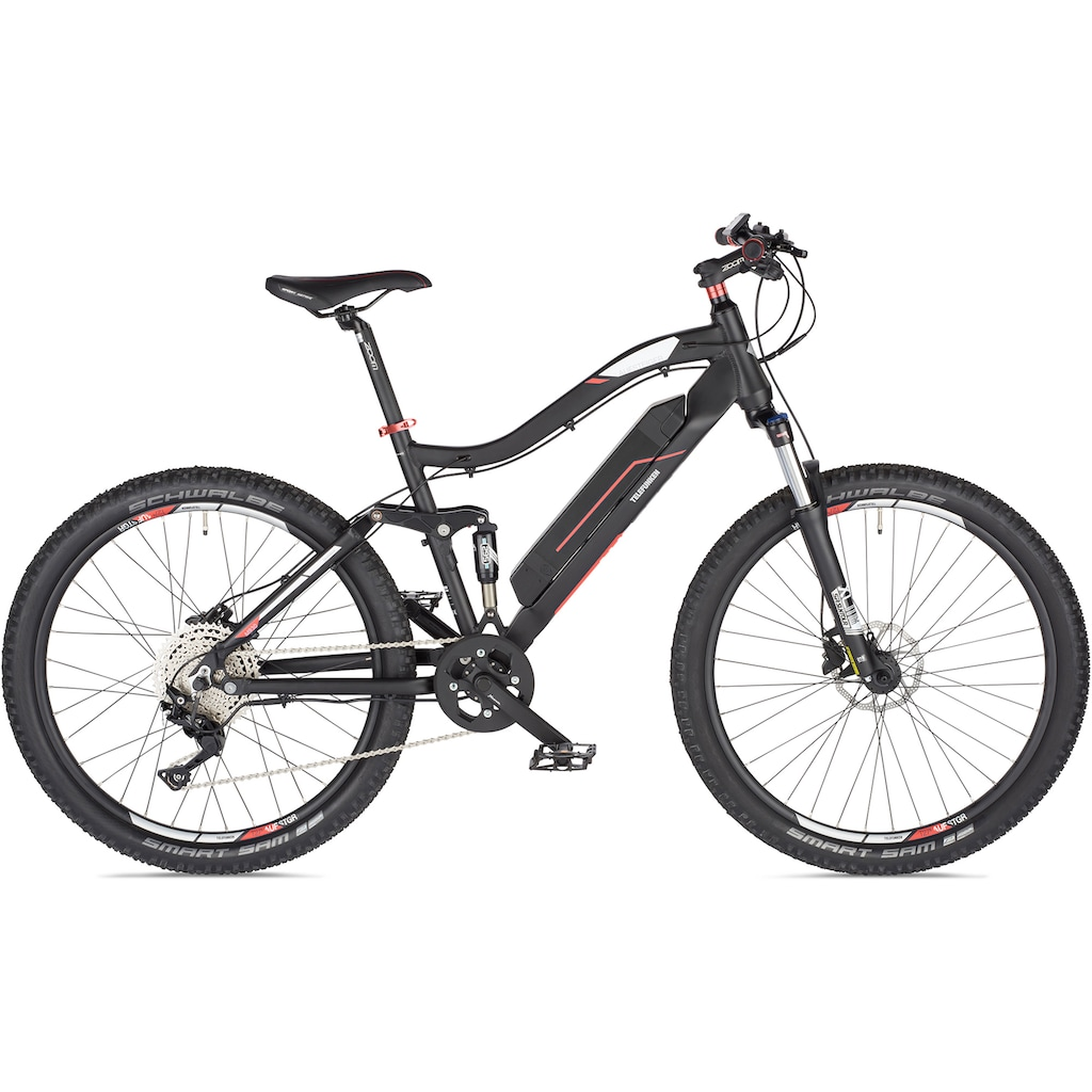 Telefunken E-Bike »Aufsteiger M930«, 10 Gang Shimano Deore Schaltwerk, Kettenschaltung, Heckmotor 250 W