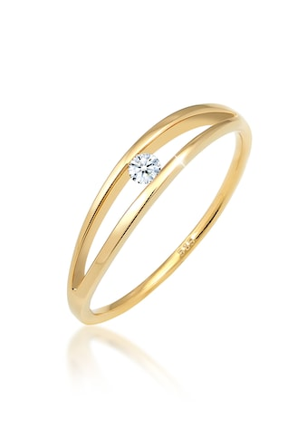 Diamore Verlobungsring »Verlobung Wellen Diamant (0.06 ct.) 585 Gelbgold« kaufen