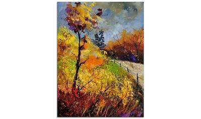 Artland Glasbild »Herbst in Houroy«, Wiesen & Bäume, (1 St.) kaufen