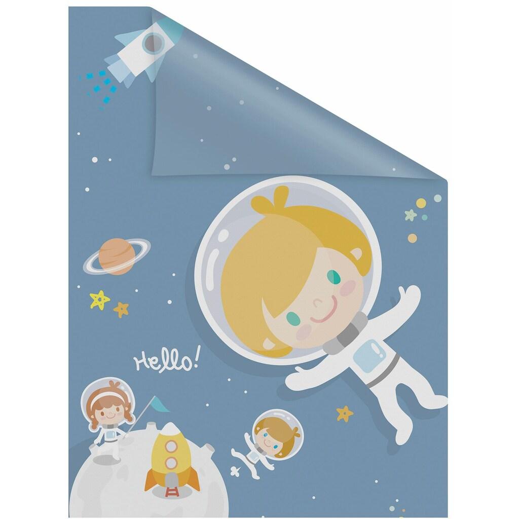 LICHTBLICK ORIGINAL Fensterfolie »Astronaut«, 1 St., blickdicht, strukturiertKlebepunkte, selbstklebend, Sichtschutz