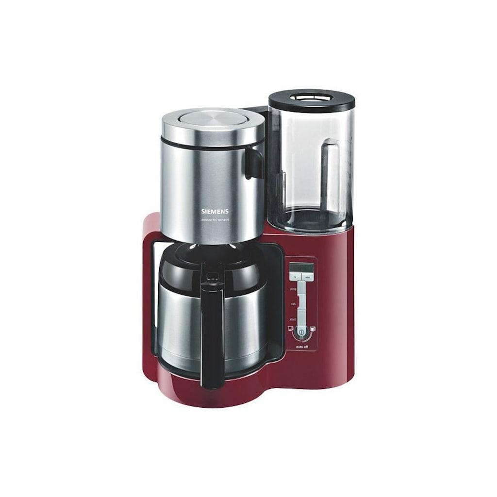 SIEMENS Filterkaffeemaschine »Sensor for Senses TC86504«, Papierfilter, 1x4, Wassertank mit Griff