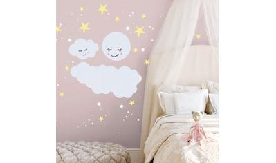 Wall-Art Wandtattoo »Sterne Wolke Mond Leuchtsticker« kaufen