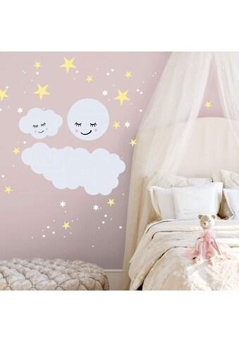 Wall - Art Wandtattoo »Sterne Wolke Mond Leuchtsticker« (1 Stück) kaufen