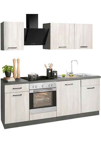 wiho Küchen Küchenzeile »Esbo«, mit E-Geräten, Breite 220 cm kaufen