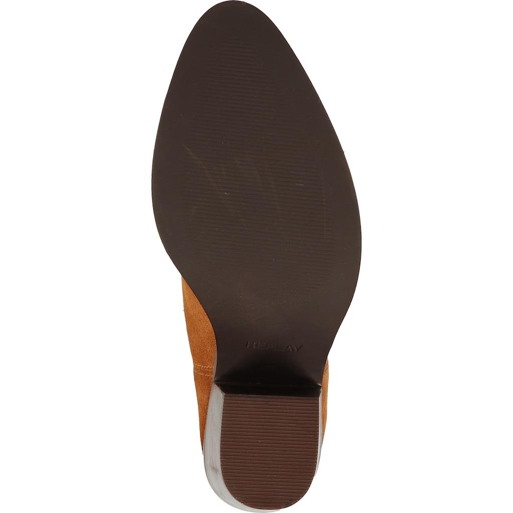 Replay High-Heel-Stiefelette »Leder«