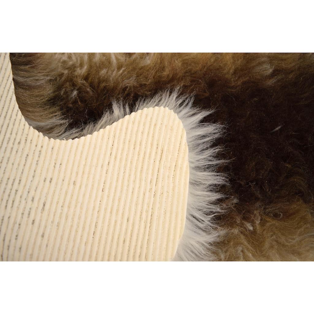 KiNZLER Fellteppich »Fell Streifen«, fellförmig, 70 mm Höhe, Kunstfell, Wohnzimmer