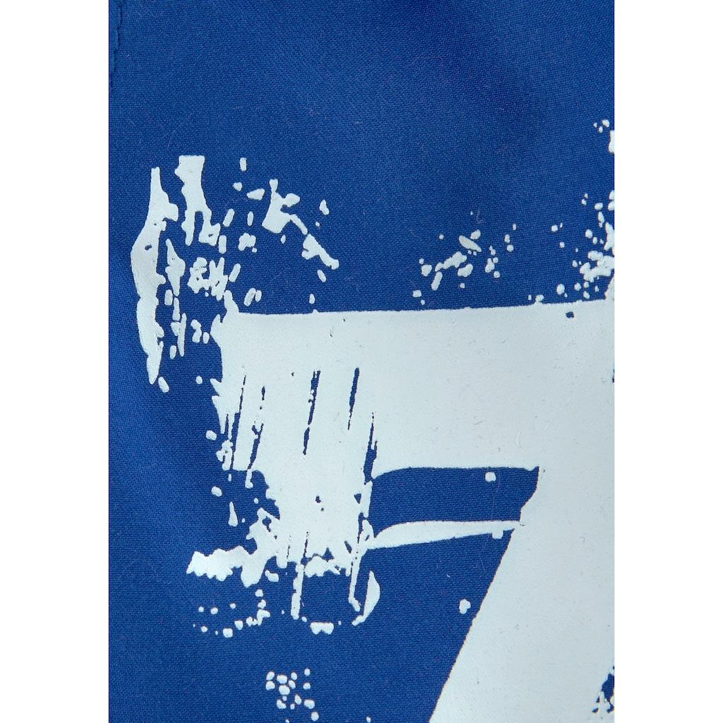 KangaROOS Badeshorts, mit Logodruck seitlich