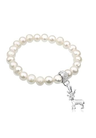 Nenalina Perlenarmband »Hirsch Wiesn Perle Swarovski® Kristalle 925 Silber« kaufen