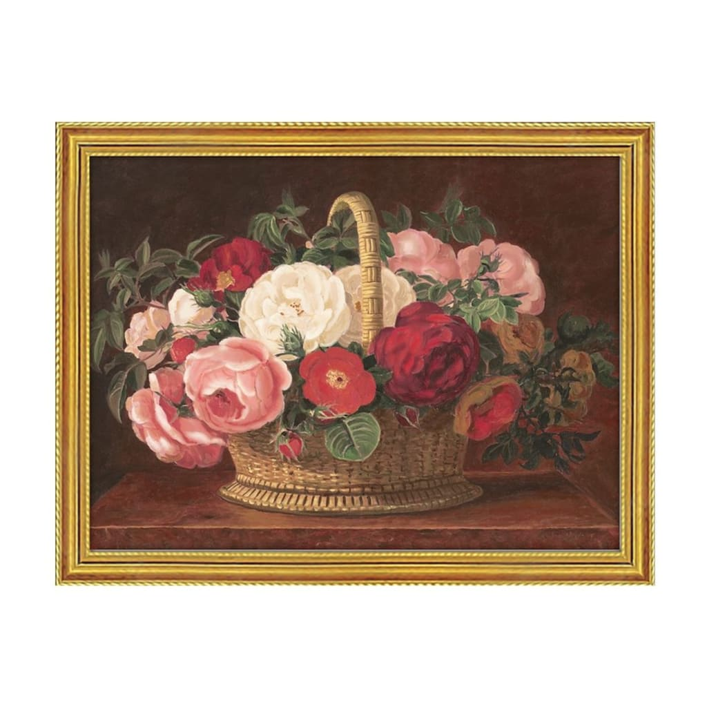 Home affaire Bild »Rosen im Korb«, 79,6/59,6 cm, gerahmt