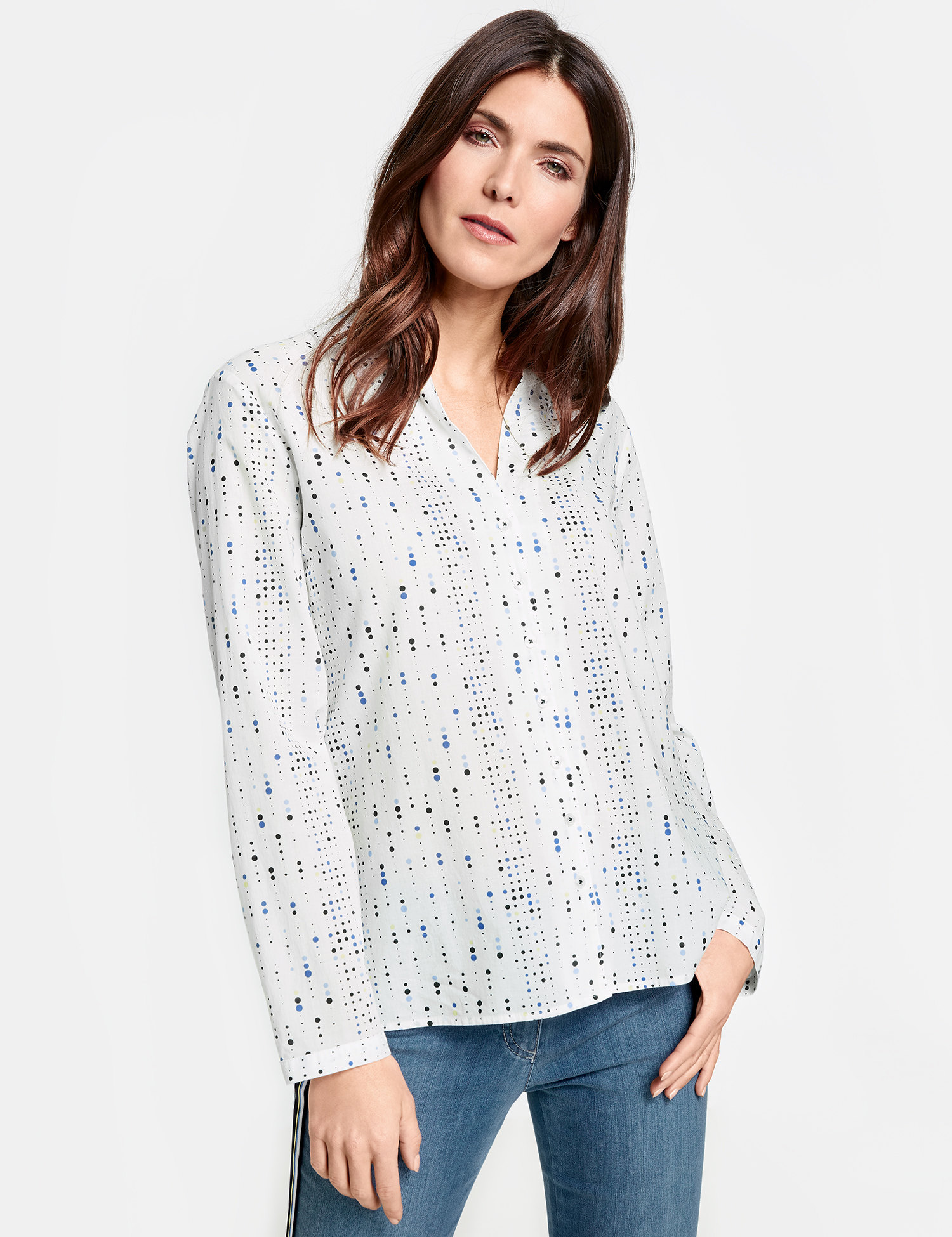 GERRY WEBER Bluse 1/1 Arm Bluse mit Allovermuster