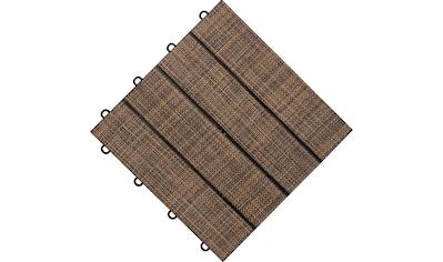 florco® Terrassenplatten »Tex«, Klickfliesen kaufen