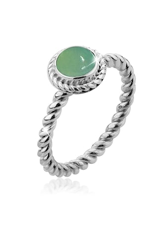 Nenalina Fingerring »Grüner Achat Geburtsstein Mai Trend 925 Silber« kaufen