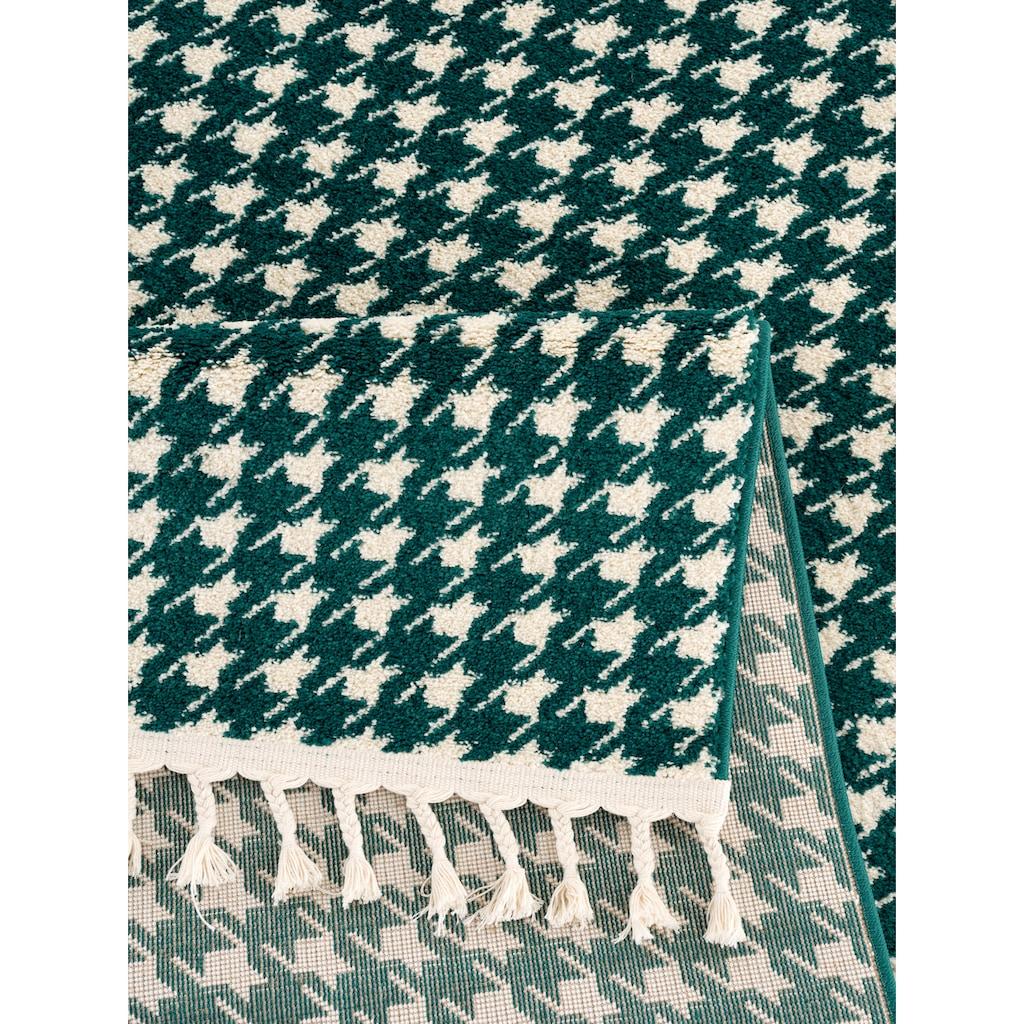 Guido Maria Kretschmer Home&Living Teppich »Colmar«, rechteckig, 14 mm Höhe, mit Fransen, Wohnzimmer