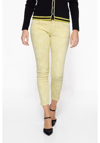 ATT Jeans 5-Pocket-Jeans »Leoni«, mit floralem Muster und seitlichen Glitzerstreifen kaufen