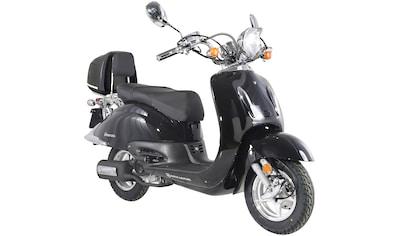 Alpha Motors Mofaroller »Firenze«, 2,5 PS, 50 ccm, 25 km/h, schwarz inkl. Topcase kaufen