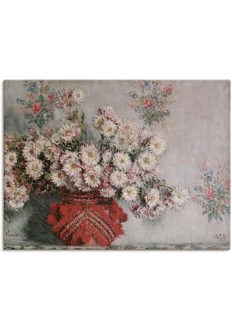 Artland Wandbild »Chrysanthemen. 1878«, Arrangements, (1 St.), in vielen Größen &... kaufen