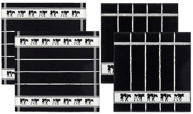 DDDDD Geschirrtuch »Zwart Bont«, (Set, 4 tlg.), Combiset: 2 Küchentücher & 2... kaufen