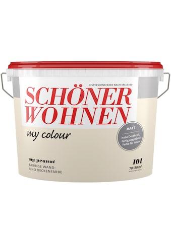 SCHÖNER WOHNEN-Kollektion Wand- und Deckenfarbe »my colour - my peanut«, matt, 10 l kaufen