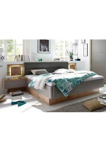 Schlafkontor Bettanlage »Capri«, mit 2 Nachttischen und integrierter LED-Beleuchtung kaufen