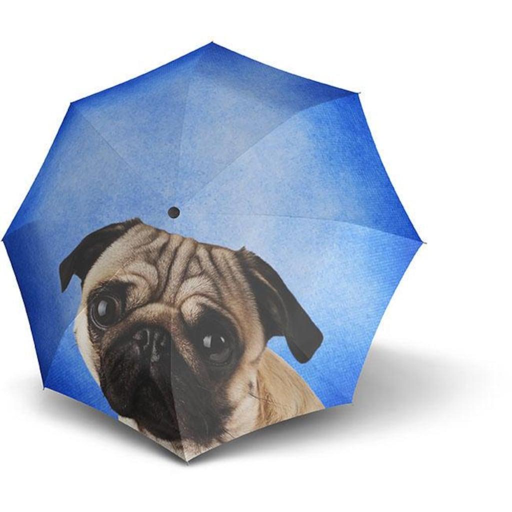 doppler® Taschenregenschirm »Lazy Dog«