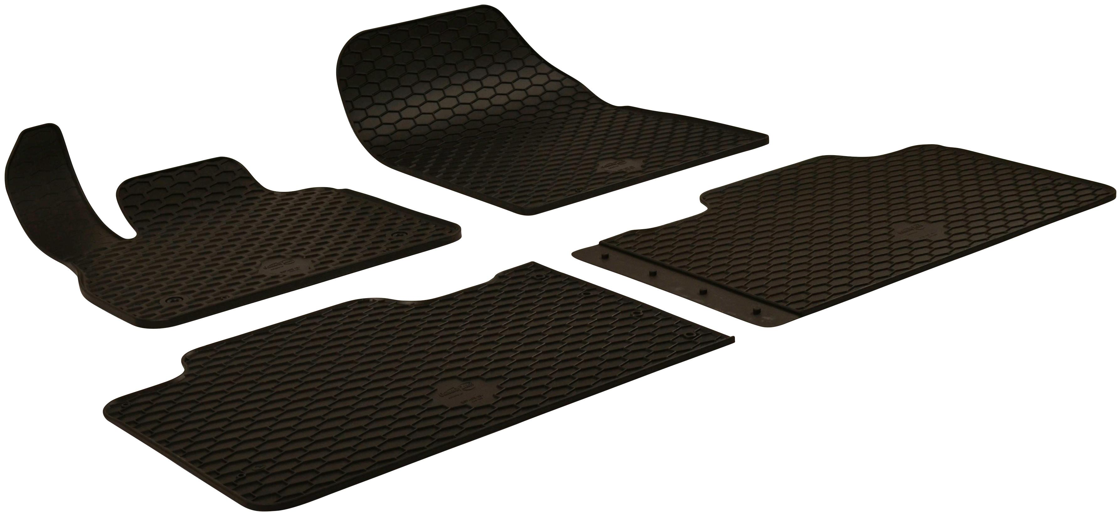 WALSER Passform-Fußmatten, Renault, Espace, Großr.lim., (4 St., 2 Vordermatten, Rückmatten), für Renault Espace BJ 2015 - heute schwarz Automatten Autozubehör Reifen Passform-Fußmatten