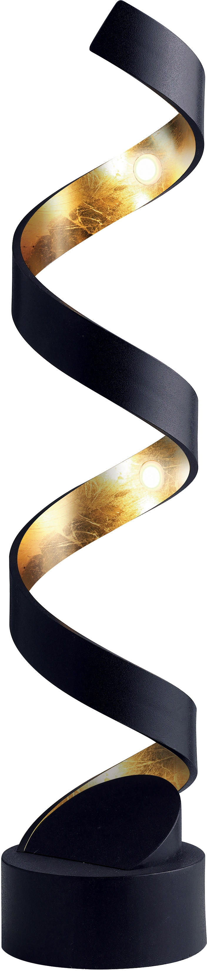 LUCE Design LED Tischleuchte LED-HELIX-L4 NER, LED-Modul, 1 St., Warmweiß