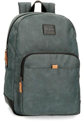 Pepe Jeans Laptoprucksack »Cargo, grau«, mit USB-Anschluss kaufen