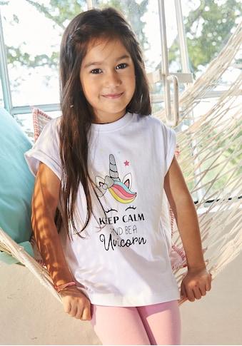KIDSWORLD Print-Shirt, mit niedlichem Einhornmotiv kaufen