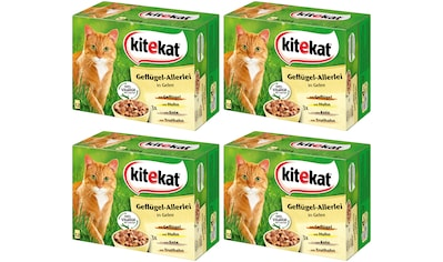 Kitekat Set: Katzennassfutter »Geflügel - Allerlei«, 4 Pakete mit je 12 Beuteln á 100 g kaufen
