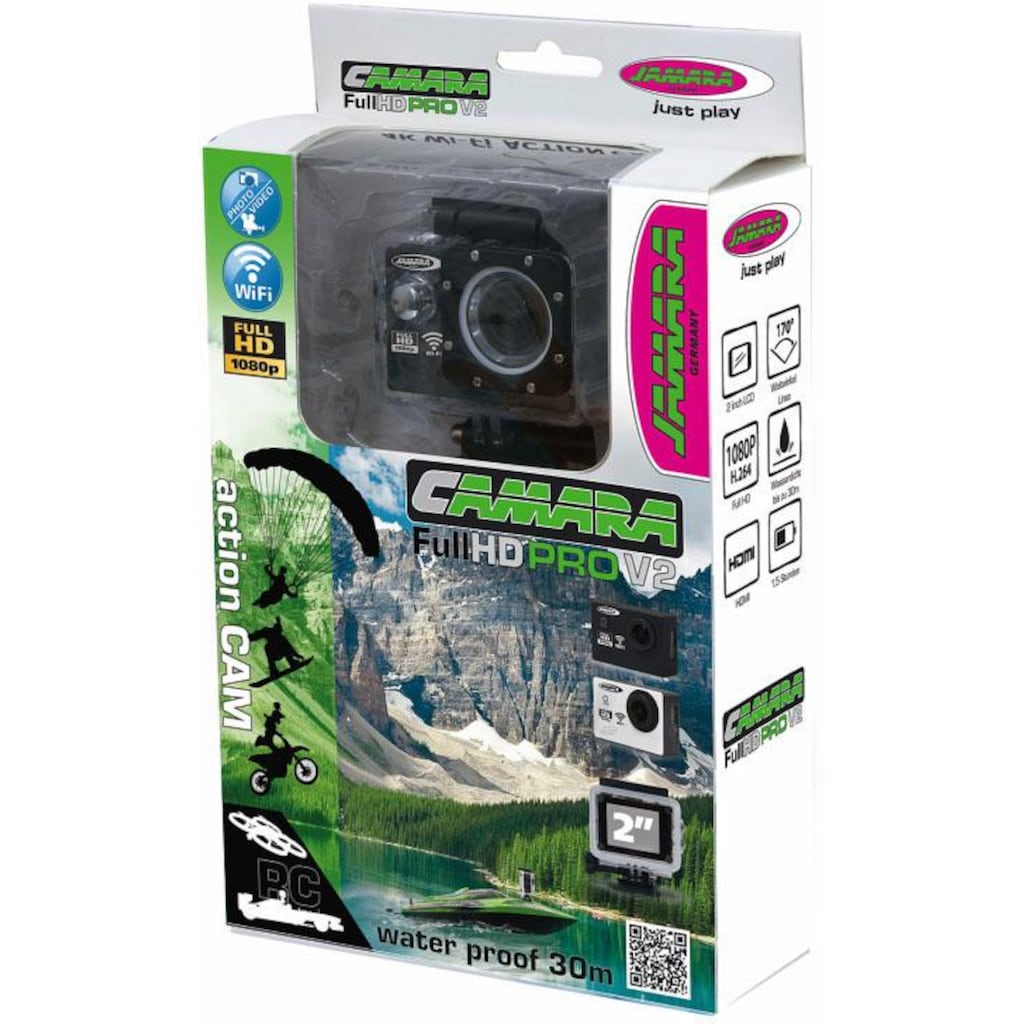 Jamara Action Cam »Camera Full HD Wifi V2, schwarz«