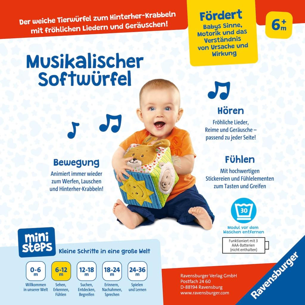 Ravensburger Greifspielzeug »ministeps® Musikalischer Softwürfel«, mit Sound