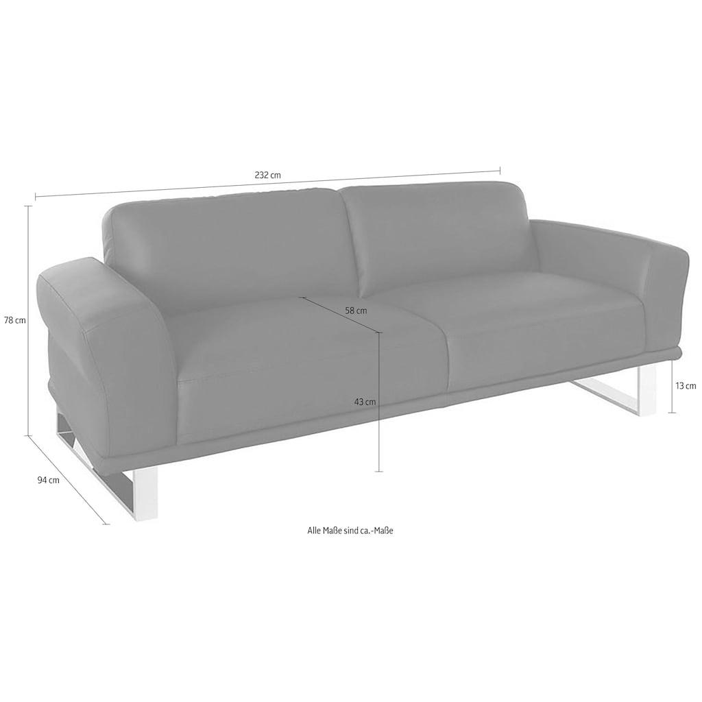 W.SCHILLIG 2,5-Sitzer »montanaa«, mit Metallkufen in Chrom glänzend, Breite 232 cm