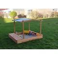 promadino Sandkasten »MULTI«, BxLxH: 140x172x131 cm, mit Sitzbox und Sonnendach