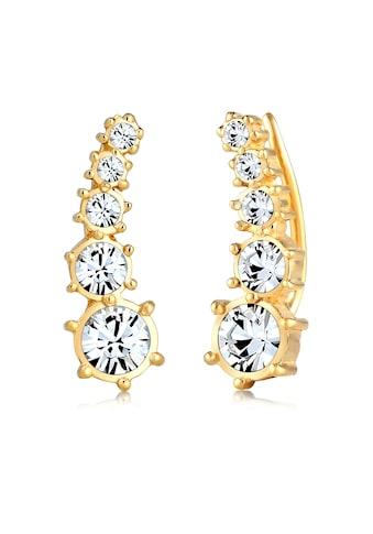 Elli Paar Ohrstecker »Earcuff Klassik Kristalle 925 Silber« kaufen