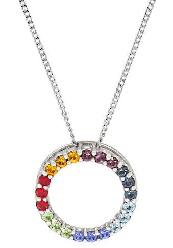Firetti Kette mit Anhänger »Kreis & Regenbogenfarben, glänzend« kaufen