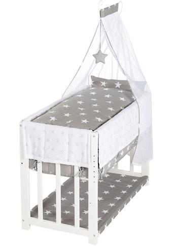 roba® Stubenbett »3in1, Little Stars, weiß«, zu Elternbett oder Bank umbaubar kaufen