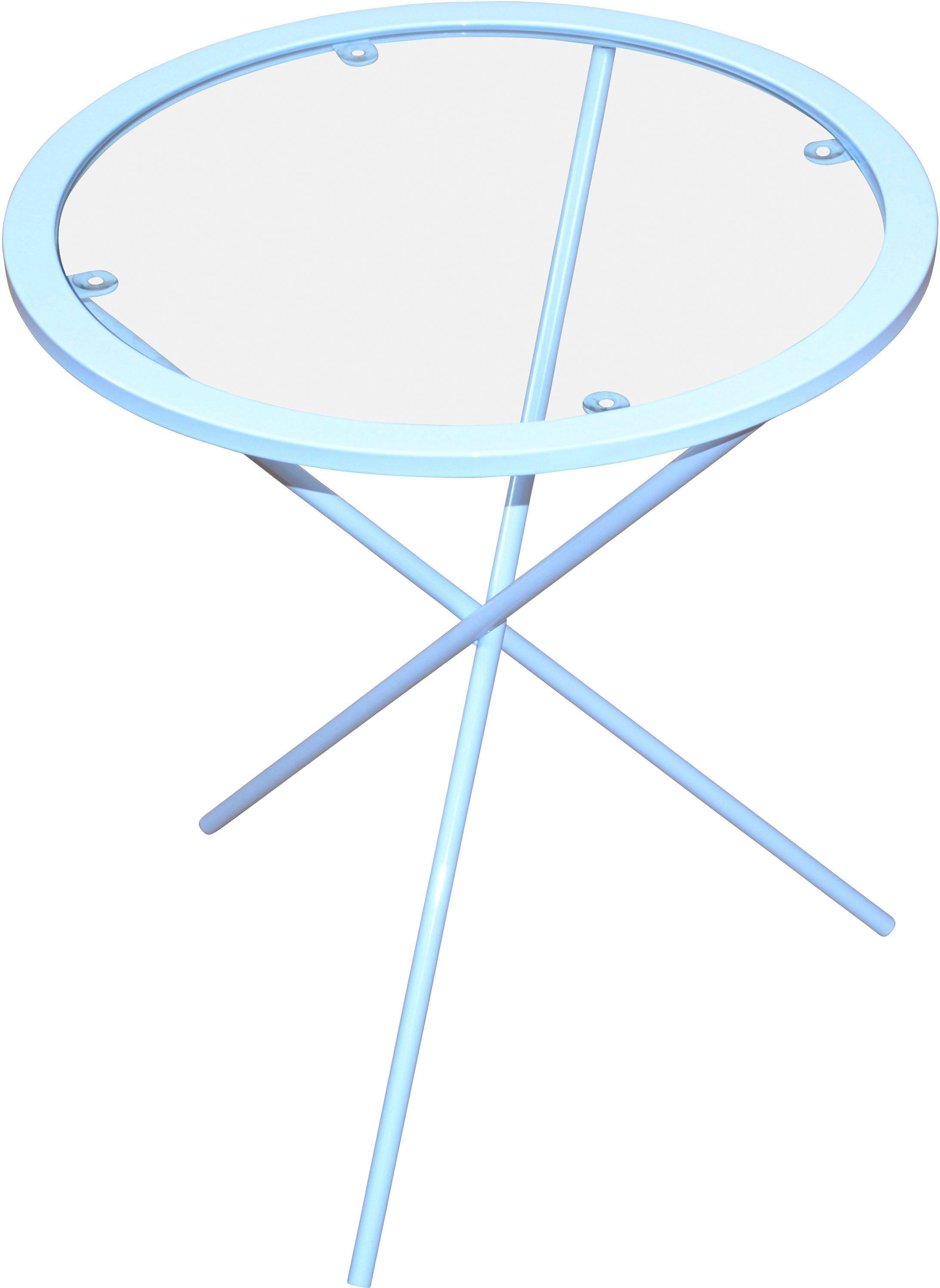 Home affaire Beistelltisch, Maße (H/Ø): (51/45) weiß Beistelltische Tische Beistelltisch