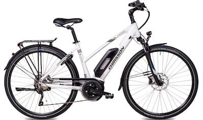 Chrisson E - Bike »E - ACTOURUS Damen«, 10 Gang Shimano Deore RD - T6000 - SGS Schaltwerk, Kettenschaltung, Mittelmotor 250 W kaufen