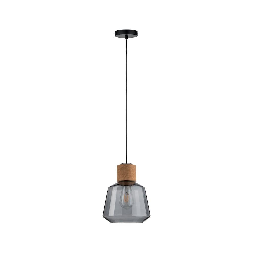 Paulmann LED Pendelleuchte »Elia Rauchglas/Kork/Schwarz max. 20W E27«, E27, 1 St.