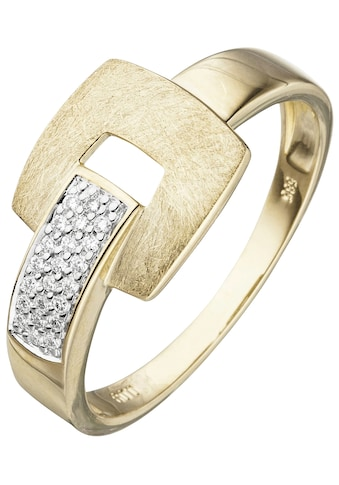 JOBO Fingerring, 585 Gold mit 22 Diamanten kaufen