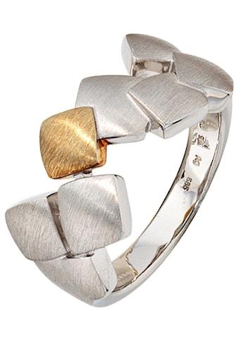 JOBO Fingerring, 925 Silber mit 585 Gold kaufen