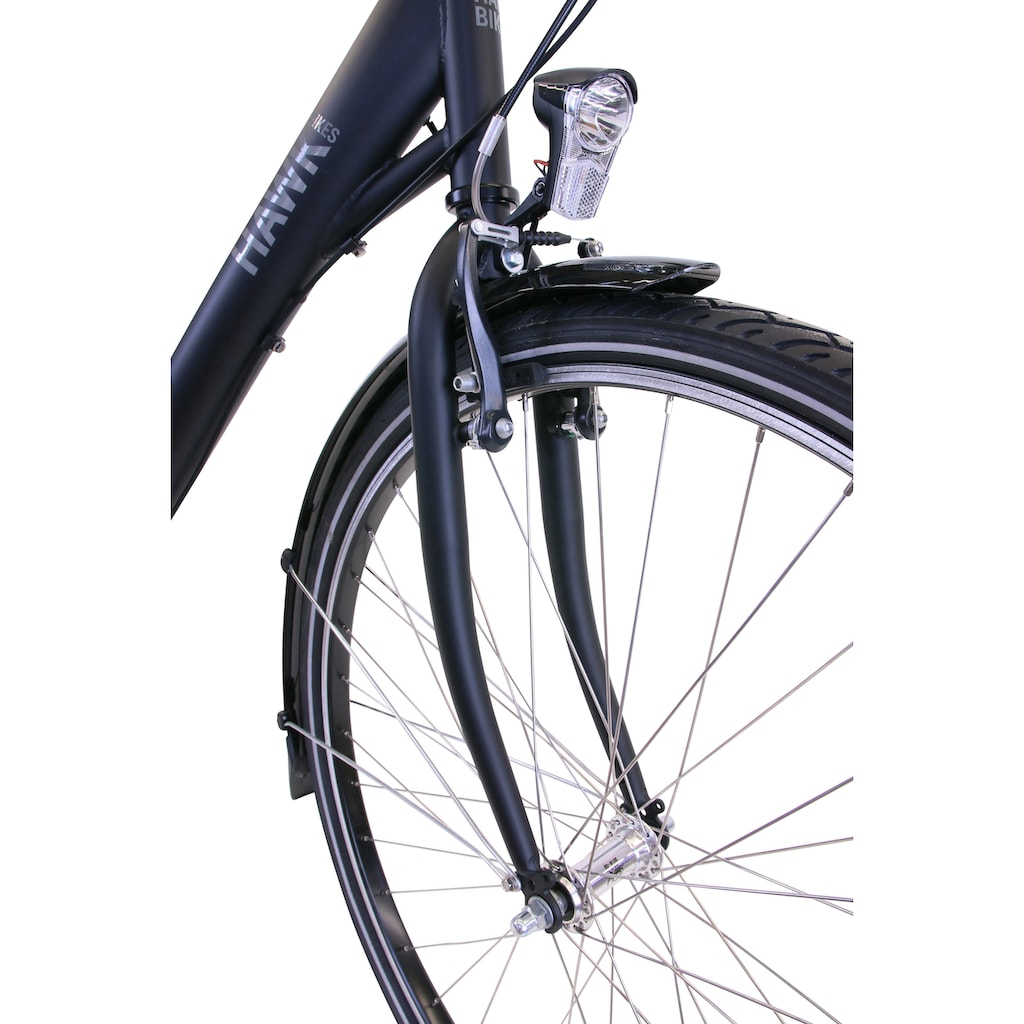 HAWK Bikes Cityrad »HAWK City Wave Premium Black«, 3 Gang, Shimano, Nexus Schaltwerk