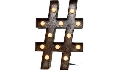 MARQUEE LIGHTS LED Dekolicht »Hashtag Raute«, 1 St., Warmweiß, Wandlampe, Tischlampe... kaufen