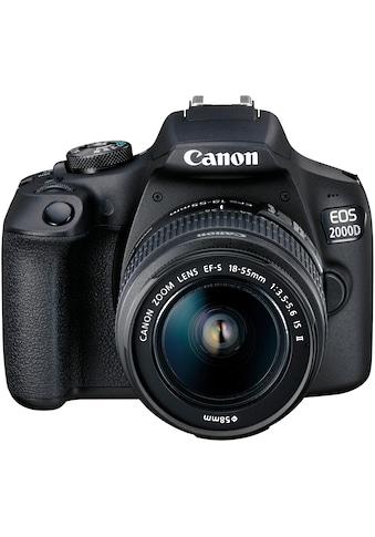 Canon »EOS 2000D EF - S 18 - 55 IS II Value Up Kit« Spiegelreflexkamera (EF - S 18 - 55 IS II, 24,1 MP, NFC WLAN (Wi - Fi)) kaufen