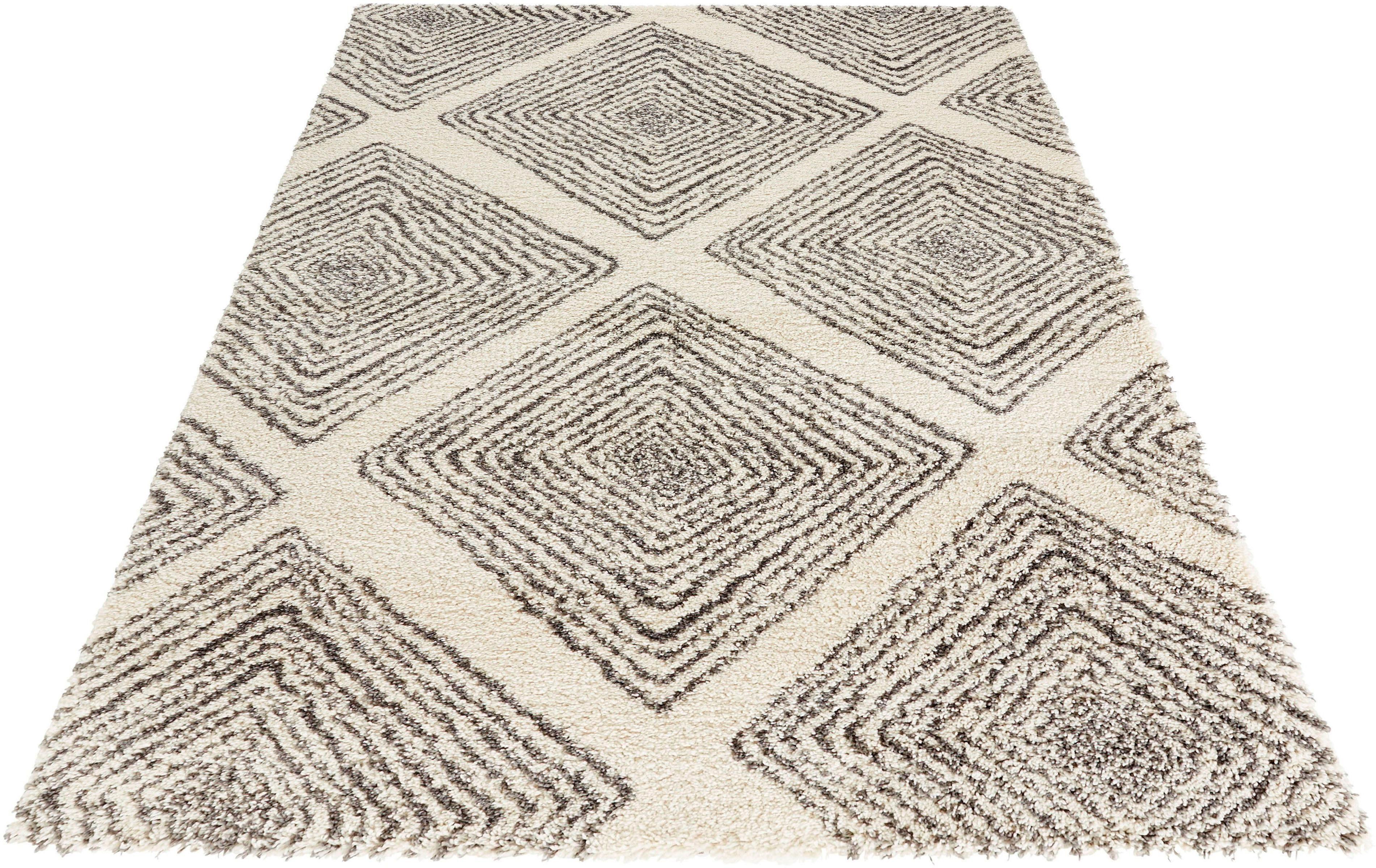 Hochflor-Teppich Wire MINT RUGS rechteckig Höhe 35 mm